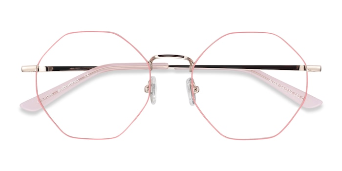 Pink & Gold Altar -  Colorful Metal Eyeglasses