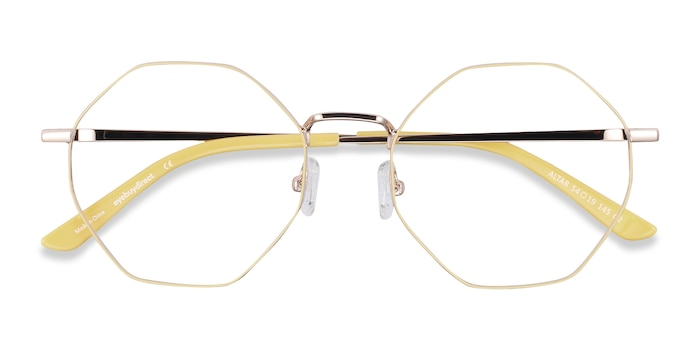 Yellow & Gold Altar -  Colorful Metal Eyeglasses
