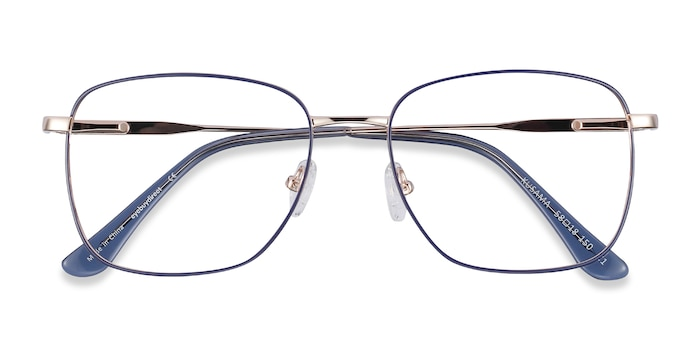 Navy & Gold Kusama -  Fashion Metal Eyeglasses