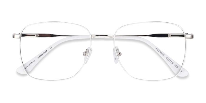 White & Silver Kusama -  Fashion Metal Eyeglasses