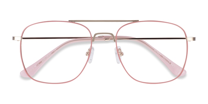 Pink & Rose Gold Perry -  Lightweight Metal Eyeglasses