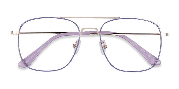 Purple & Gold Perry -  Lightweight Metal Eyeglasses