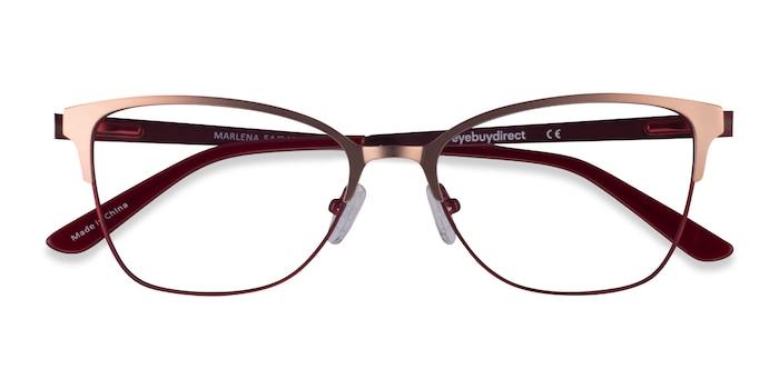 Rose Gold Burdungy Marlena -  Metal Eyeglasses