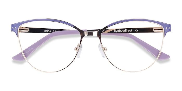 Purple & Gold Rosa -  Colorful Metal Eyeglasses
