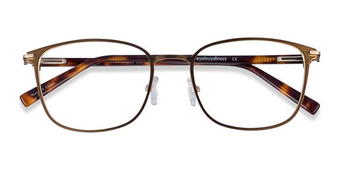 Bronze & Gold River -  Acetate, Metal Eyeglasses