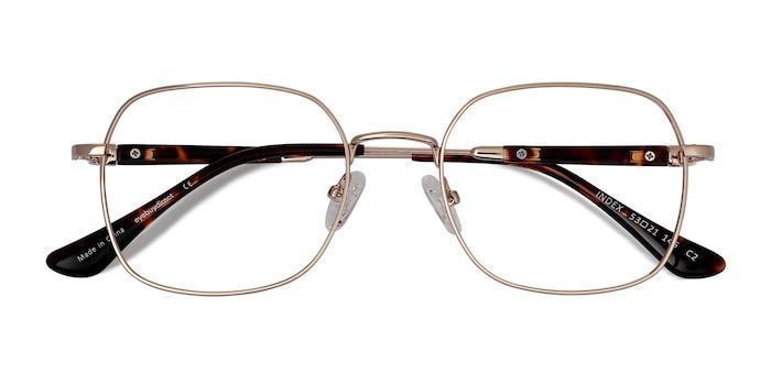 Gold Tortoise Index -  Metal Eyeglasses