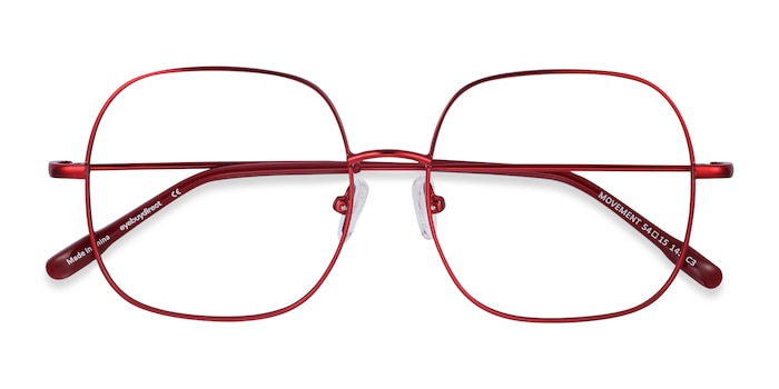 Red Movement -  Lightweight Metal Eyeglasses