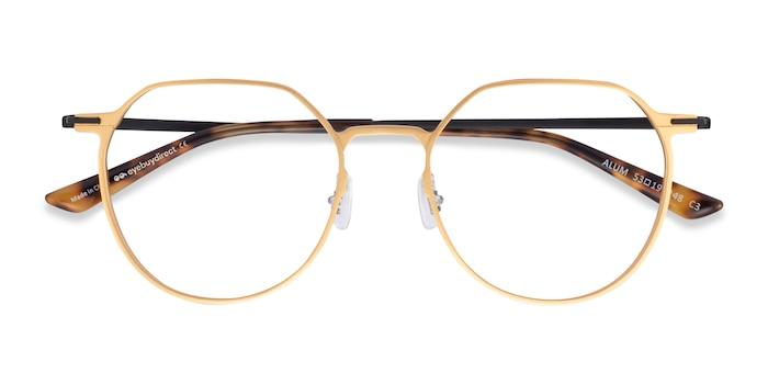 Gold & Black Alum -  Aluminium Alloy Eyeglasses