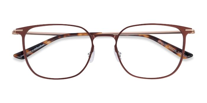 Brown & Gold Density -  Aluminium Alloy Eyeglasses