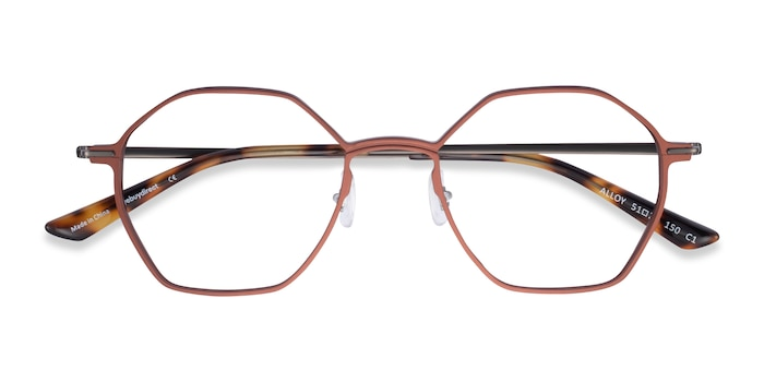 Brown & Gunmetal Alloy -  Aluminium Alloy Lunette de Vue