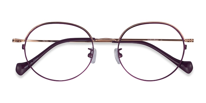 Purple  Rose Gold Patel -  Métal Lunette de Vue
