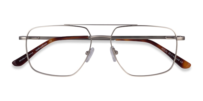 Silver Focal -  Metal Eyeglasses