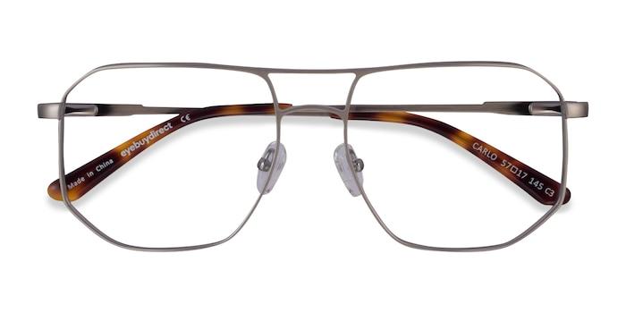Brushed Silver Carlo -  Metal Eyeglasses