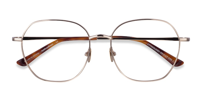 Light Gold Etymology -  Metal Eyeglasses