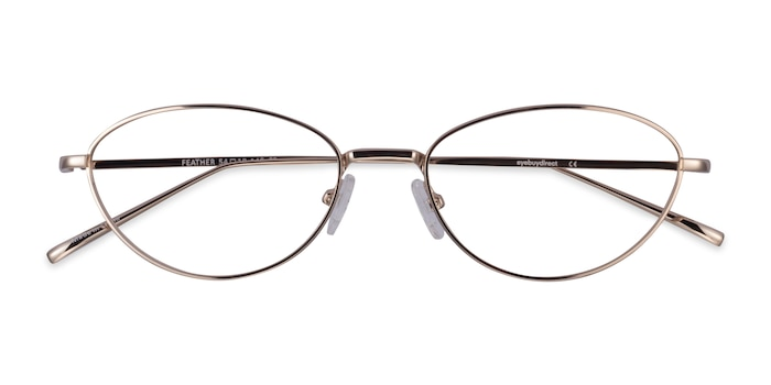 Gold Feather -  Metal Eyeglasses