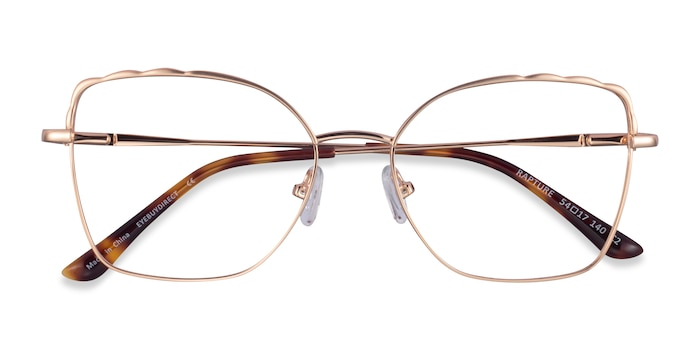 Rose Gold Rapture -  Metal Eyeglasses