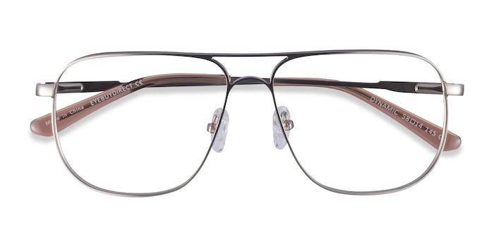 Matte Silver Dynamic -  Metal Eyeglasses