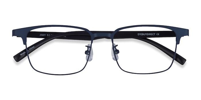 Matte Navy Black Jimy -  Plastic Eyeglasses