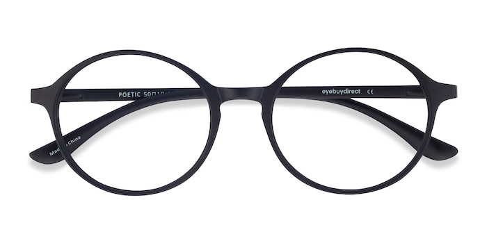 Matte Black Poetic -  Plastic Eyeglasses