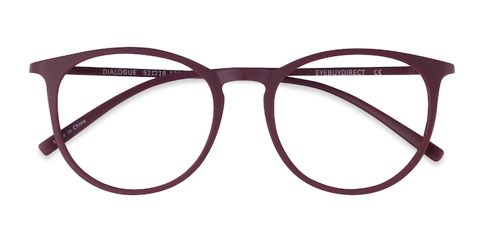 Aubergine Dialogue -  Colorful Plastic Eyeglasses