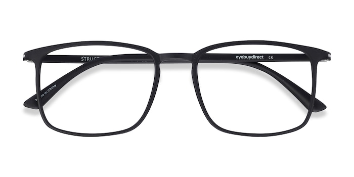 Black Structure -  Lightweight Plastic Eyeglasses
