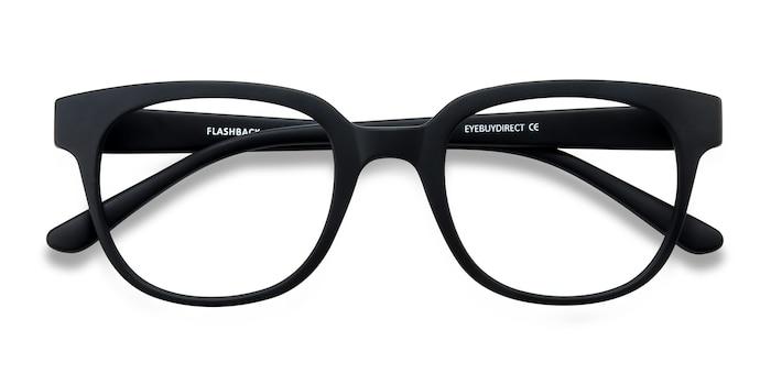 Matte Black Flashback -  Classic Plastic Eyeglasses
