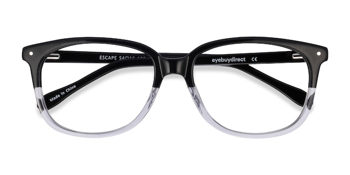 Clear Black Escape -  Classic Acetate Eyeglasses