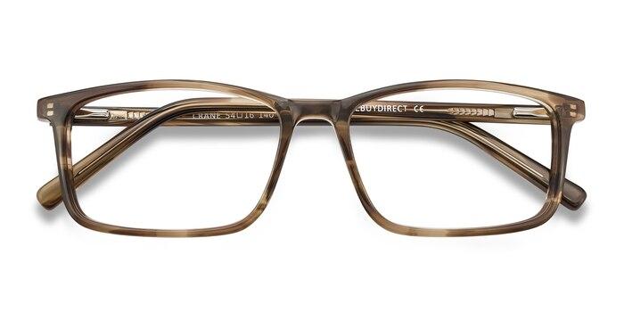 Brown Striped Crane -  Acetate Eyeglasses