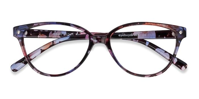 Pink Floral Dame -  Vintage Plastic Eyeglasses