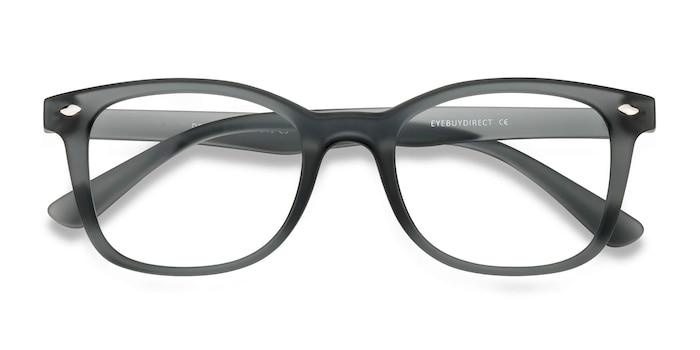 Matte Gray Drama -  Plastic Eyeglasses