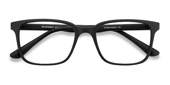 Matte Black November -  Lightweight Plastic Eyeglasses