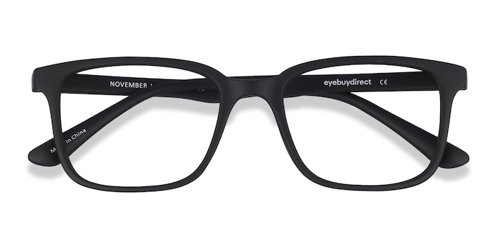 Matte Black November -  Plastic Eyeglasses