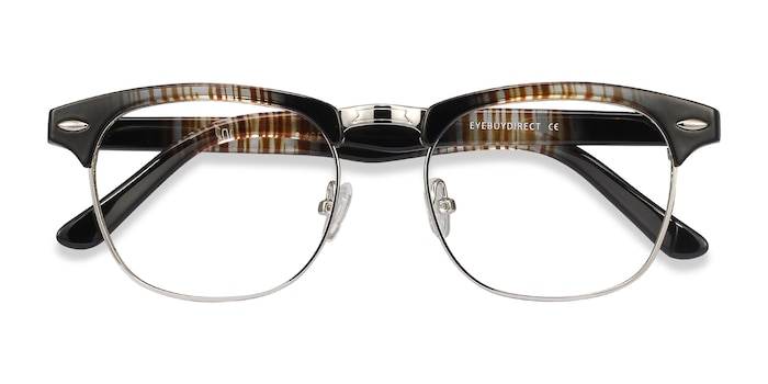 Striped Coexist -  Metal Eyeglasses