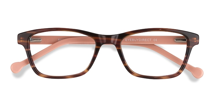 Brown Striped Shallows -  Acétate Lunettes de Vue