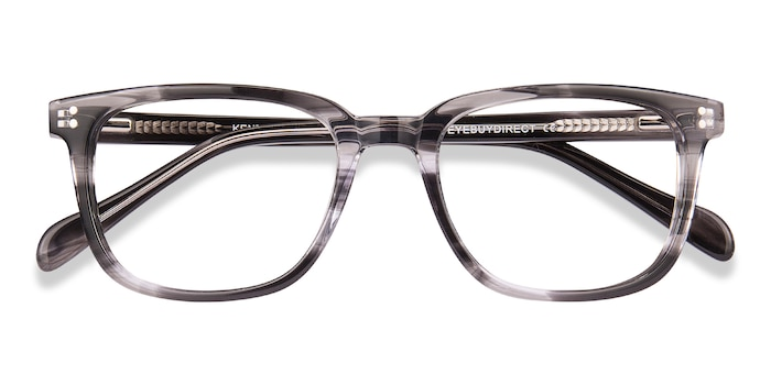Gray Striped Kent -  Acetate Eyeglasses