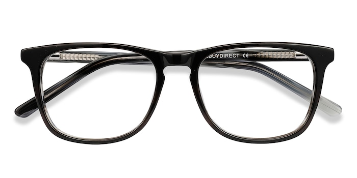 Black Gray Skyline -  Classic Acetate Eyeglasses