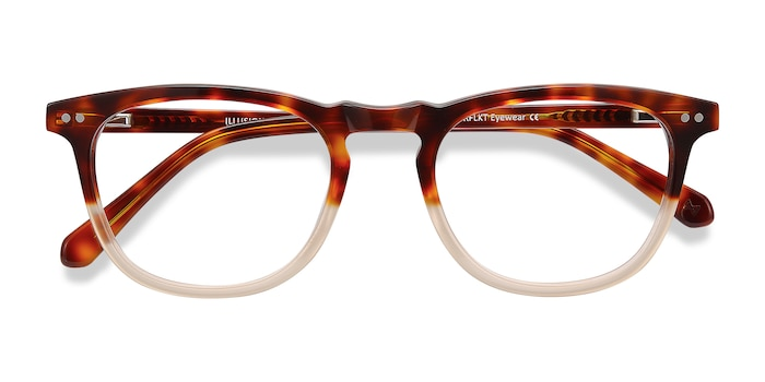 Tortoise Clear Illusion -  Vintage Acetate Eyeglasses