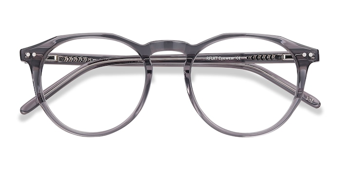 Gray Clear  Planete -  Vintage Acetate Eyeglasses
