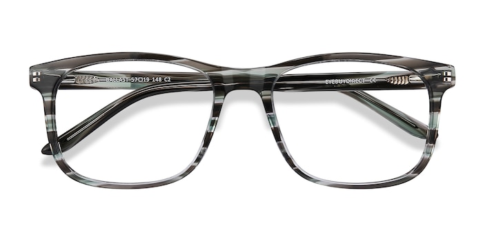 Gray Striped Ballast -  Acetate Eyeglasses