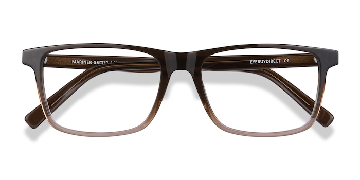 Clear Brown Mariner -  Acetate Eyeglasses