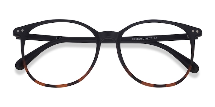 Black Tortoise Lucia -  Lightweight Plastic Eyeglasses