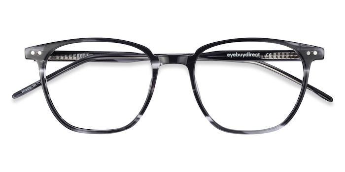 Gray Striped Regalia -  Acetate Eyeglasses