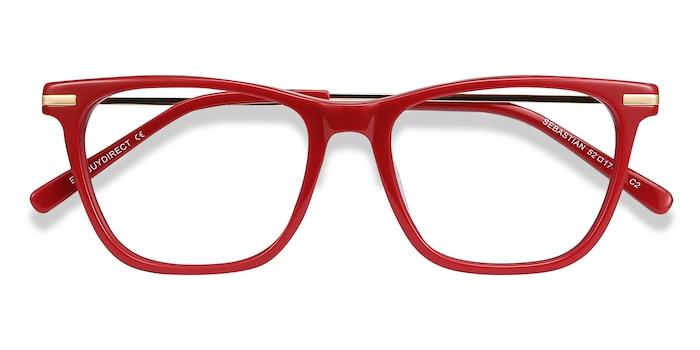 Burgundy Sebastian -  Colorful Metal Eyeglasses