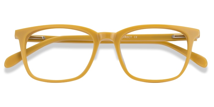 Yellow Etched -  Acetate Eyeglasses