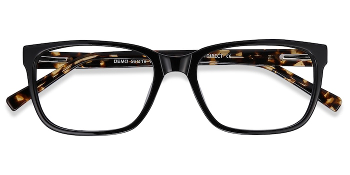 Black Demo -  Fashion Acetate Eyeglasses