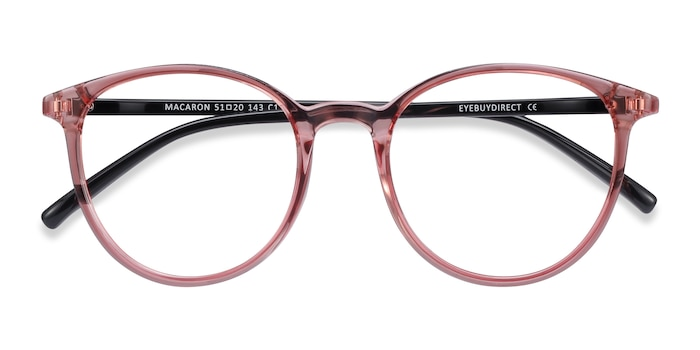 Clear Pink Macaron -  Colorful Plastic Eyeglasses