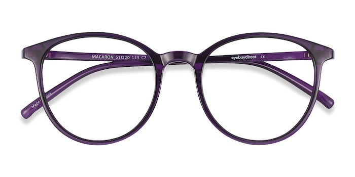 Purple Macaron -  Colorful Plastic Eyeglasses
