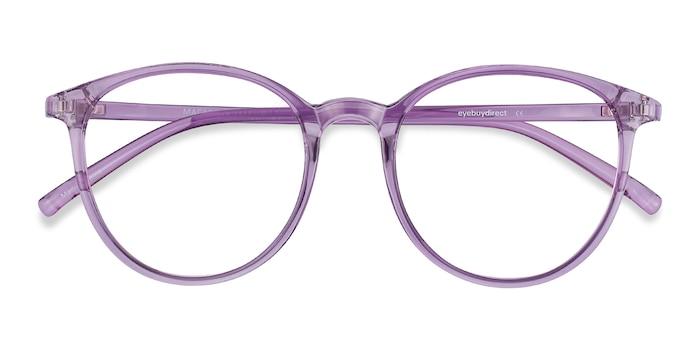 Clear Purple Macaron -  Coloré Plastique Lunettes de Vue