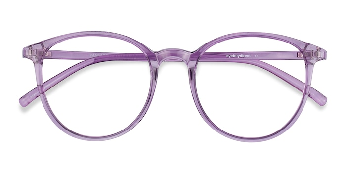 Clear Purple Macaron -  Colorful Plastic Eyeglasses
