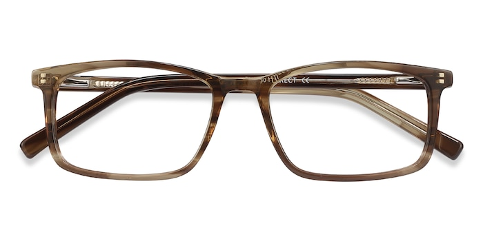 Brown Striped Crane -  Acetate Eyeglasses